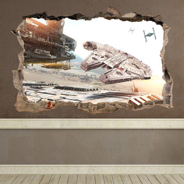 Loch Millennium Falcon Star Wars - WANDTATTOOS