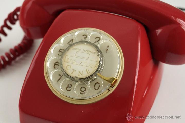 Telefono heraldo President Citesa rojo años 60 vintage retro pop - Foto 4