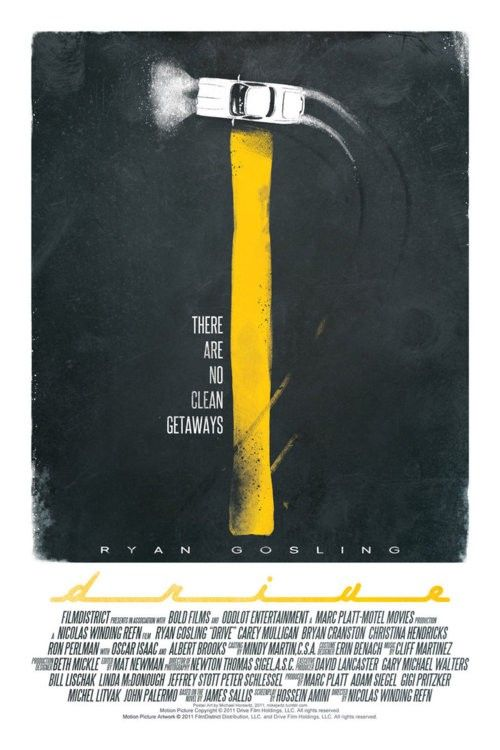 Drive Minimalist Movie Poster By Mike Horowitz