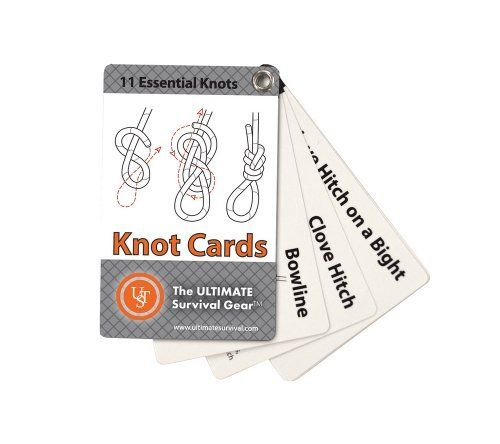 Ultimate Survival Technologies Knot Cards: A How-To Guide  Price : $6.49 http://www.5col.net/Ultimate-Survival-Technologies-Knot-Cards/dp/B00F5V00RW