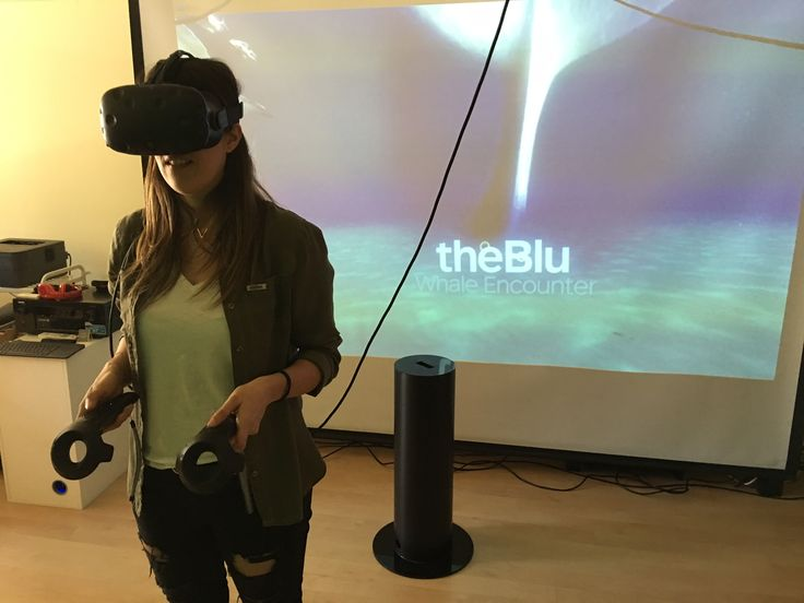 #VR · Swimming with an enormous whale is a powerful VR experience with the #HTCVive · March, 2017 · www.visyon360.com · www.bvirtual.com