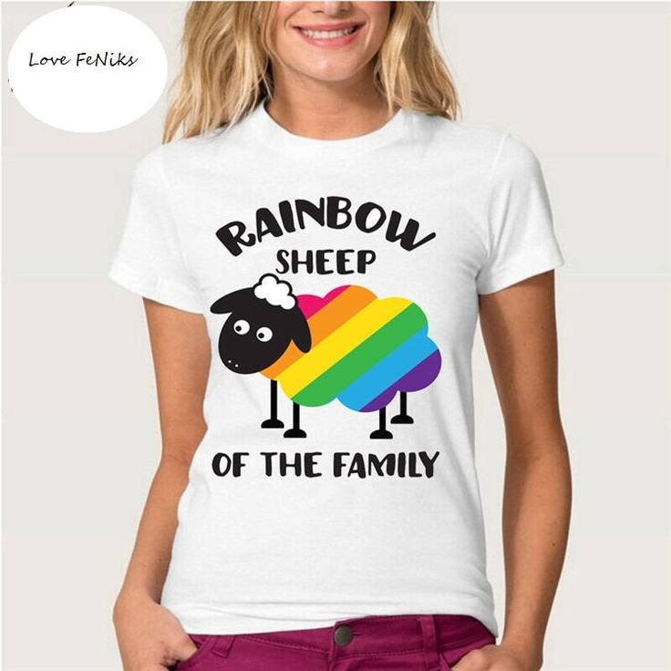 Rainbow Sheep Ladies T-Shirt by LoveFeNiks on Etsy
