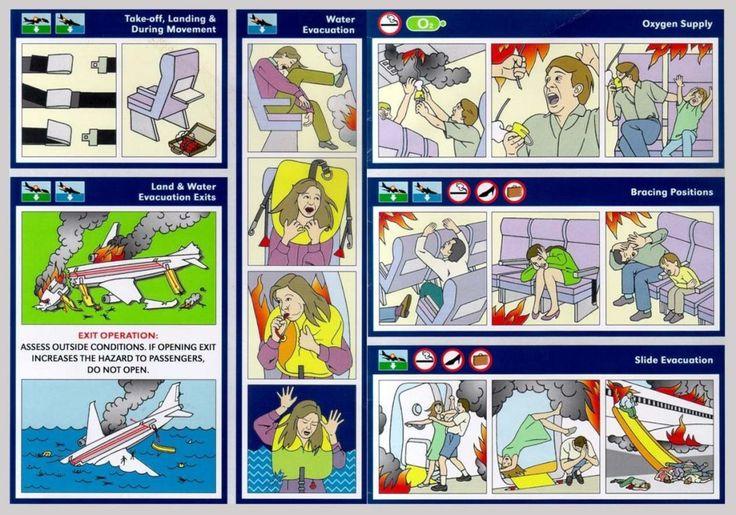 Airplane Emergency Instruction Card [Fight Club]
