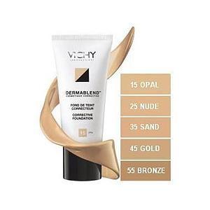 Vichy Derma blend Foundation Nude 25. Een foundation met een ultra soepele textuur die vloeibaar wordt bij contact met de opperhuid. Op www.shopwiki.nl #schoonheid #make-up
