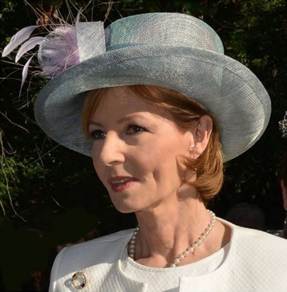 Crown Princess Margareta at a garden party in Kristina Dragomir