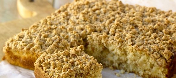 Paleo Apple Sour Cream Streusel Cake