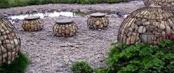 gabion garden sculptures