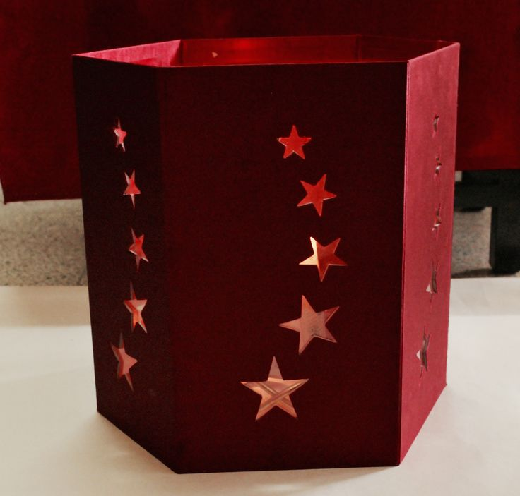 A packaging box that converts to a beautiful lantern with trailblazing stars on it.