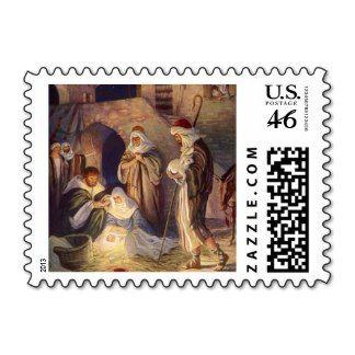 Vintage Religious Christmas, Nativity Magi Wisemen Postage Stamps