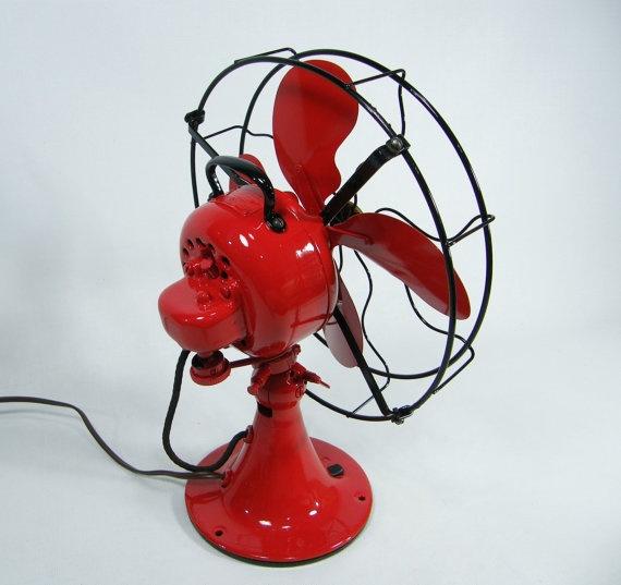 Vintage Electric Fan Red & Black 1920s by ohiopicker on Etsy