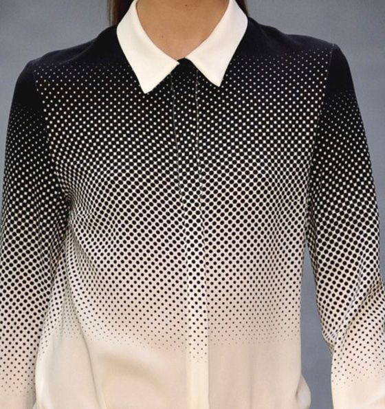 JOSH GOOT GRADIENT    CIRCLES / DOTS / FASHION / JOSH GOOT / MONOCHROME / OPTICAL / SHIRT / SPOTS    3/2/12