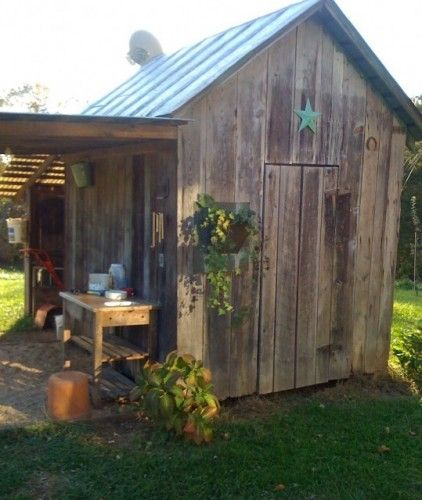 Garden ShedGarden Sheds, Ideas, Rustic Gardens, Chicken Coops, Potting Sheds, Wooden Wall, Pots Sheds, Barns Wood, Old Barns