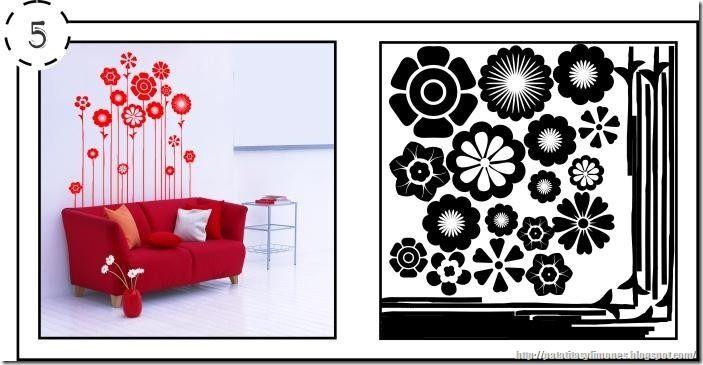 44 best plantillas para decorar paredes images on - Como decorar paredes ...