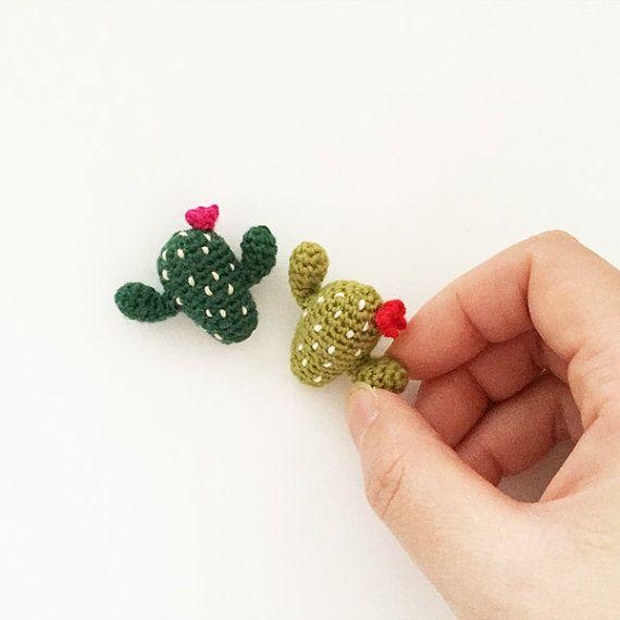 Cactus  - Crochet Brooch, Corsage, Accessory, Amigurumi                                                                                                                                                                                 More