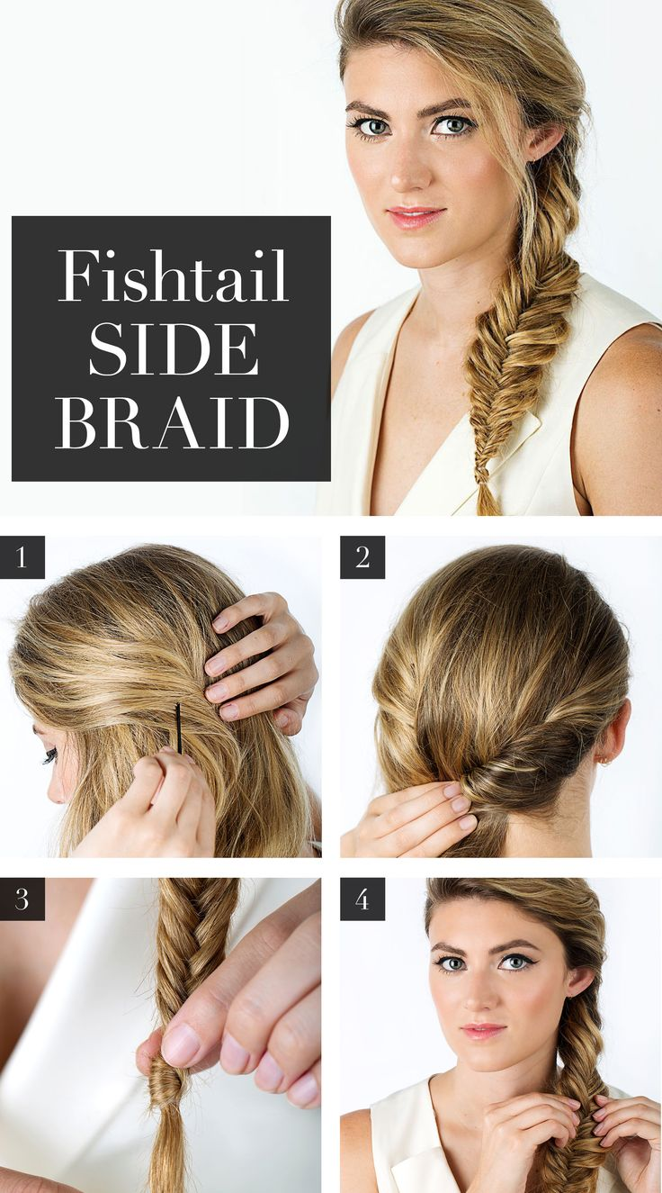 Finally, an EASY step-by-step fishtail braid tutorial (how to GIF's included)