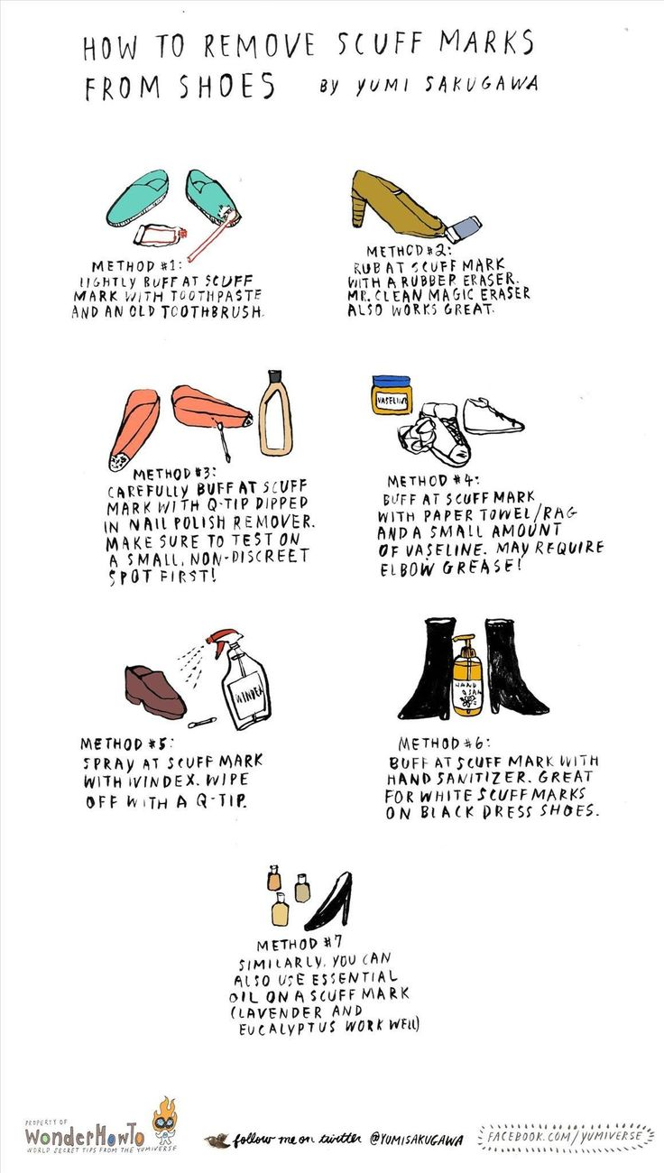6 Ways to Remove Ghastly Scuff Marks from Shoes Using Common Household Items « The Secret Yumiverse