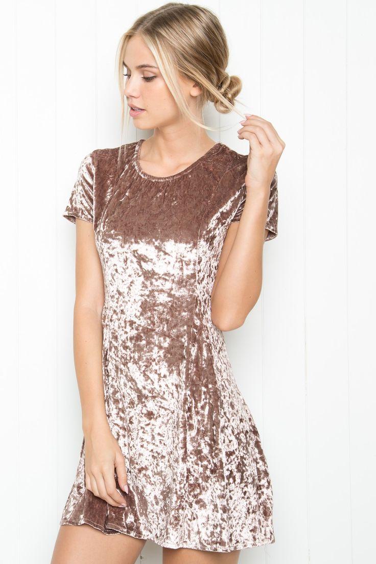 Look for less velvet dress on the hunt - Brandy Melville Meari Velvet Dress Clothing