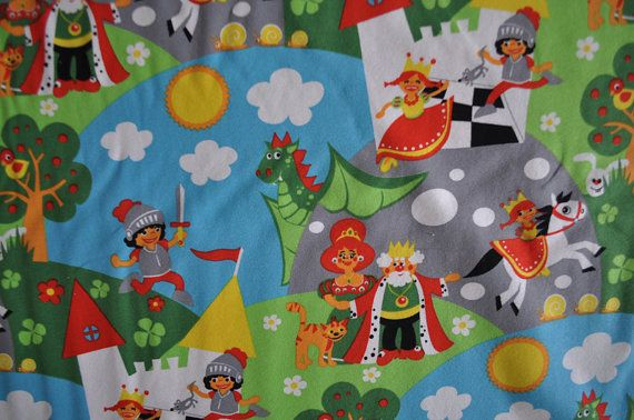 Organic Jersey fabric  Lillestoff  Knights World / by stoffandgo, €9.90