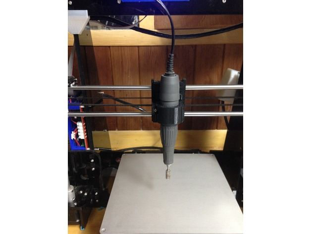spindle holder or hand piece for CNC upgrade by 3DTSUJ - Thingiverse
