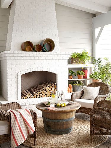 You can't go wrong with white painted brick.