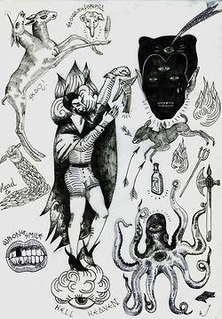 •                  Illustration Black and White fuck you eye dark tattoo satan devil symbolism occult hermetic tattoo ideas Izabela Dawid Wolf one eye             delivermetoevil  •