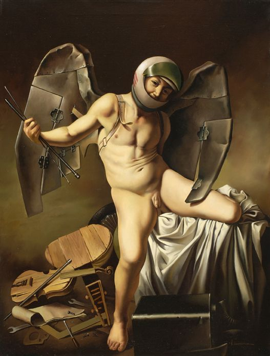 - Vito Campanella - Amorino - Óleo sobre lienzo - 61 x 46cm. - 1987