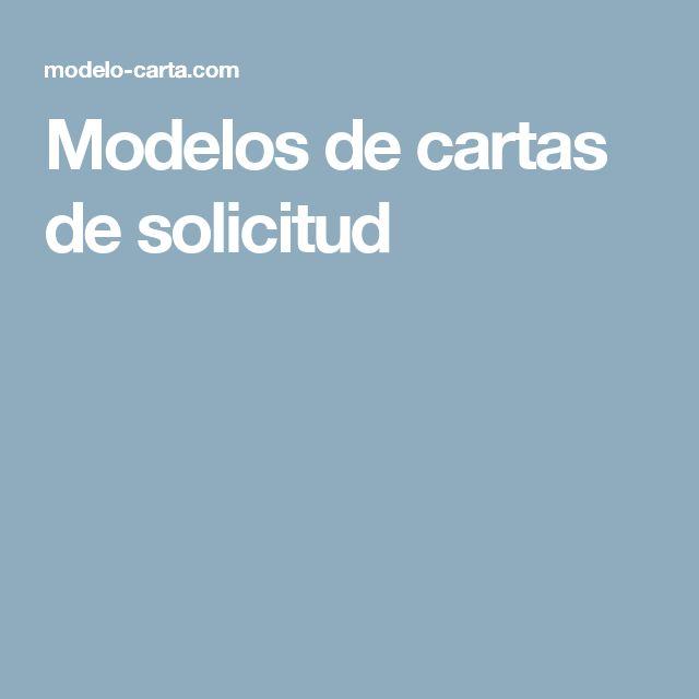 Modelos de cartas de solicitud