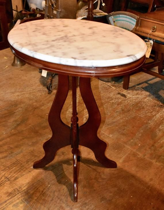 Antique Marble Top Hall Entry Accent Table Vintage Furniture Marble Accent Table Marble Top Accent Table Marble Tables Design
