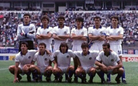 Italy team group at the 1986 World Cup Finals.