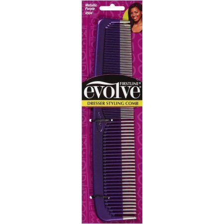 Evolve Dresser Styling Comb, Metallic Purple