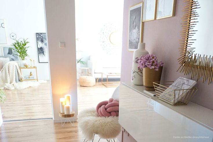 Wandfarbe altrosa im flur streichen wohnen pinterest altrosa wandfarbe und flure - Wandgestaltung flur diele ...