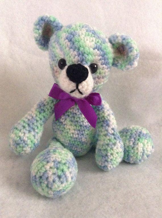 Little crochet teddy by SewingSunbeams on Etsy