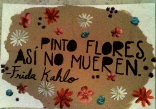 Pinto flores,así no mueren