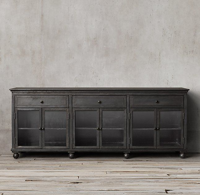 Annecy Metal-Wrapped Glass Large Sideboard