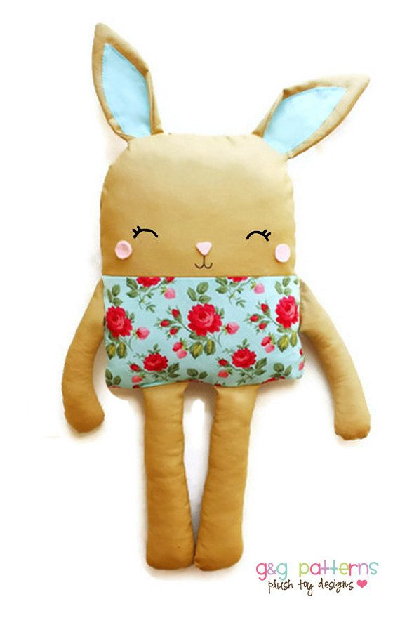 Bunny PDF Sewing Pattern Bunny Doll Softie Toy by GandGPatterns BUY