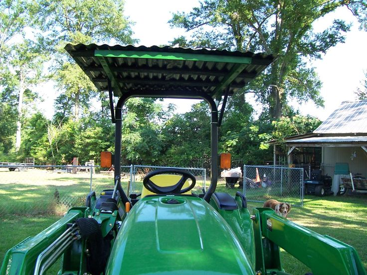 homemade-canopy--my-jd tractor-project-