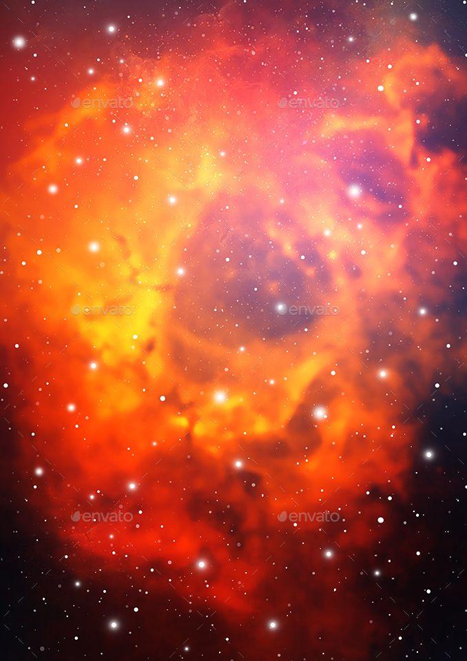 A4 Teal And Orange Cosmic Digital Paper Cosmic Art Galaxy Background Galaxy Art