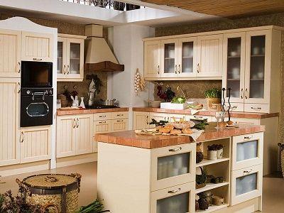 muebl de cocina country claro