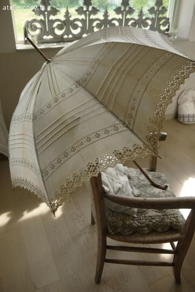 Ombrelle ancienne Brocante de charme atelier cosy.fr
