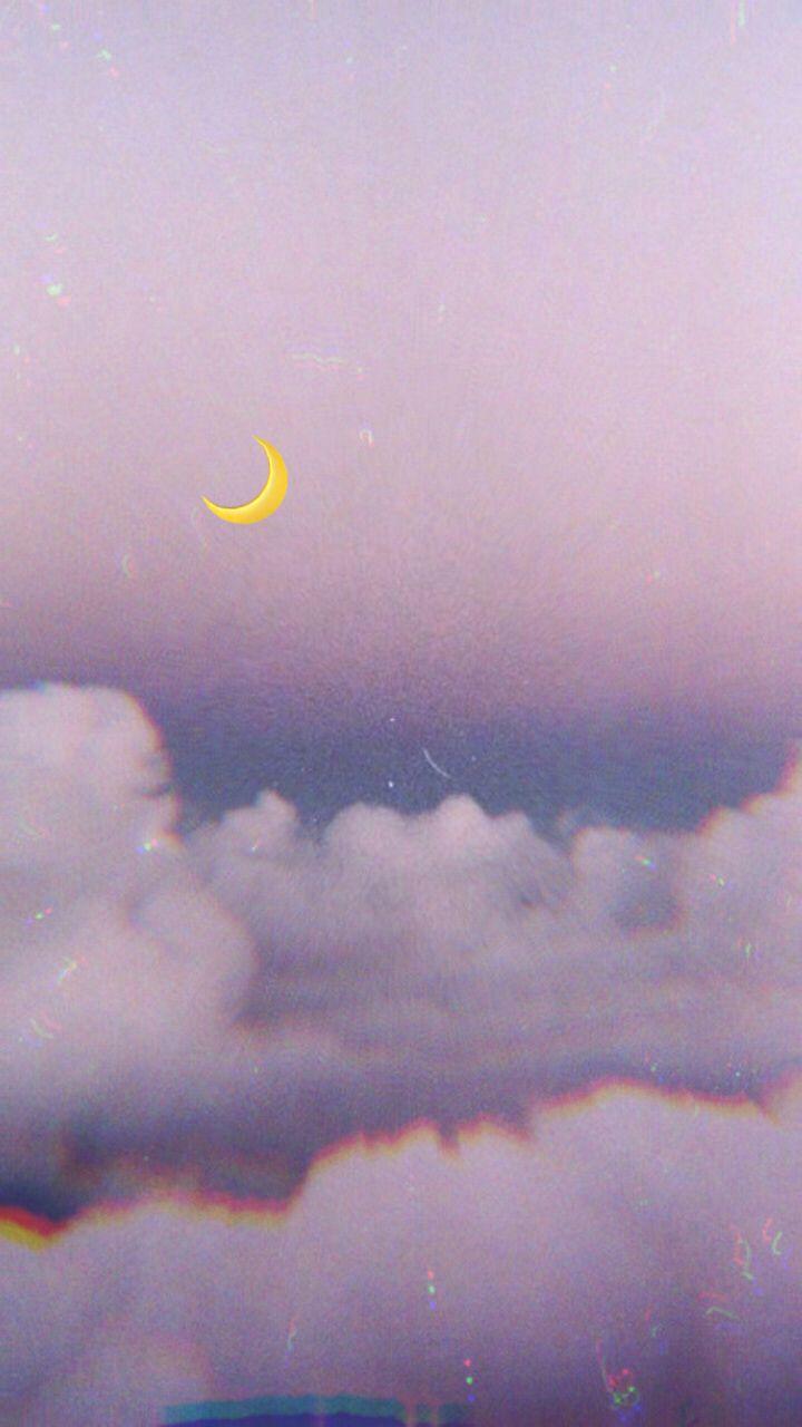 P I N T E R E S T Yesenia Yle Wallpaper Wallpaperiphone Purple Clouds Cloud Moon Moonlight Emoji Lo Wallpaper Pastel Gambar Awan Ungu Pastel