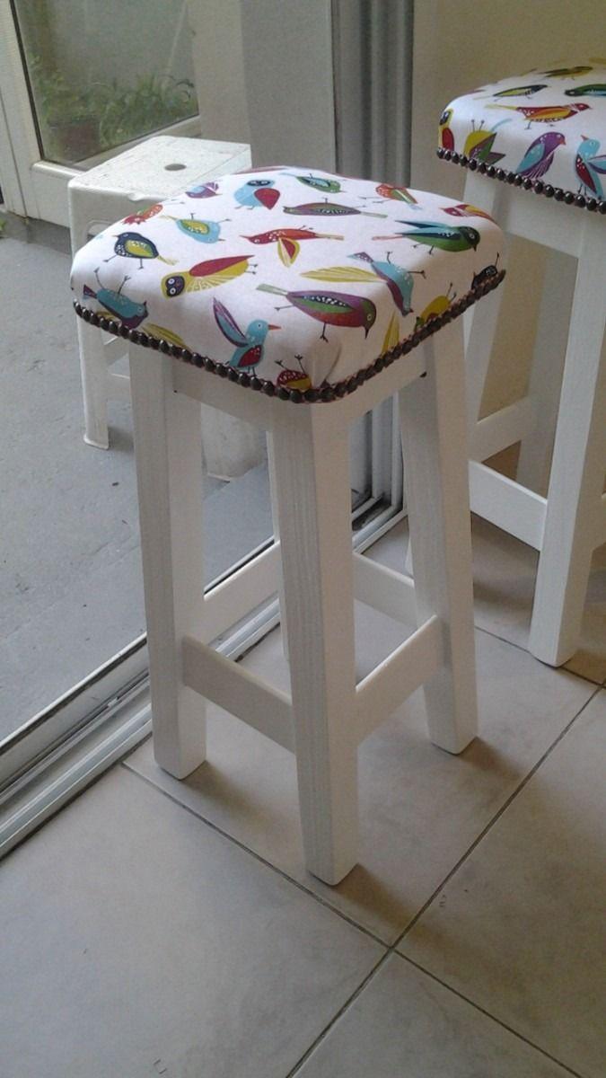 Banqueta Taburete Tapizado Diseño Retro De 60cm - $ 320,00 en MercadoLibre