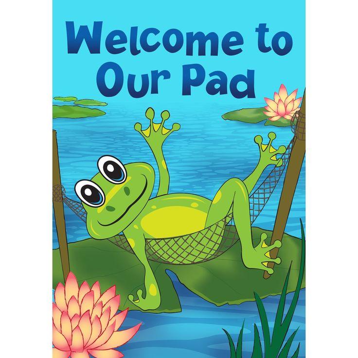 Welcome to Our Pad Synthetic Fiber Door Mat (12 x 18 garden flag), Multi, Outdoor Décor