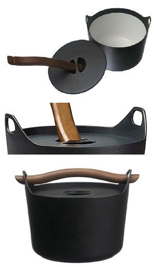 Timo Sarpaneva enameled cast iron pot from Rosenlew