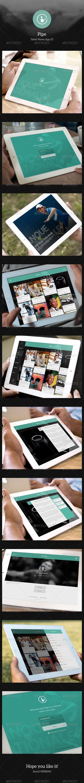 Tablet News App UI - Pipe