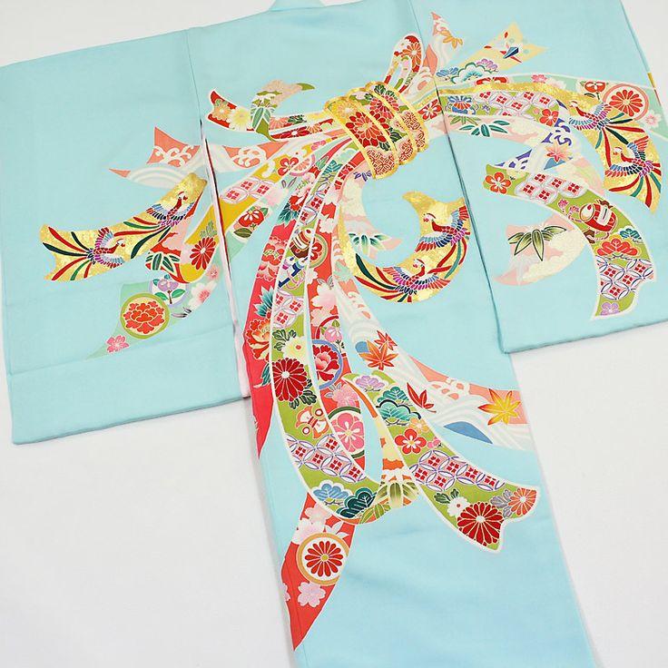 絹100%高級初着、お宮参り着物から3歳の女児赤ちゃんきもの。