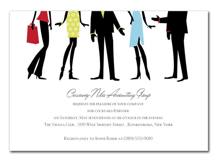18 best Invitations images on Pinterest Postcard printing - business dinner invitation sample
