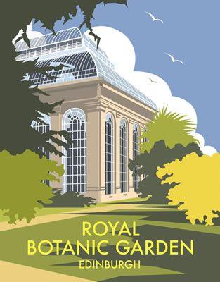 Royal Botanic Garden, Edinburgh. By Illustrator Dave Thompson wholesale fine art print
