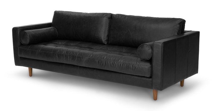 Sven Oxford Black Sofa