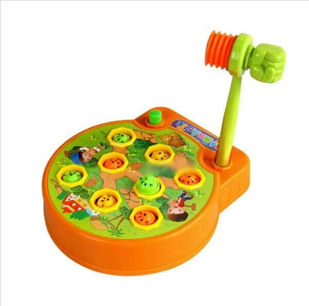 Lovely Baby Whac-A-Mole Mole Electric Music Playing Hamster Game Machine for Pocket Mole Electronic Plastic Kids Game Toy #31
