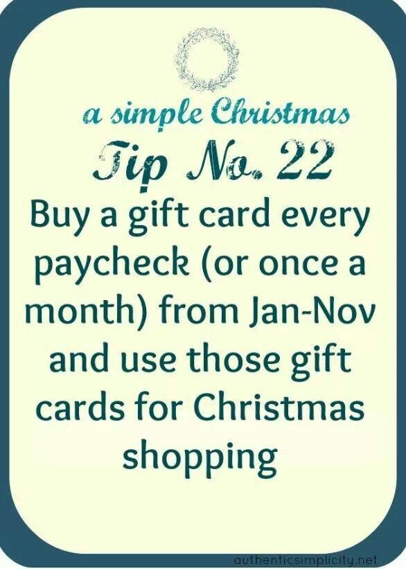 This is a GREAT budgeting tip for buying holiday gifts!